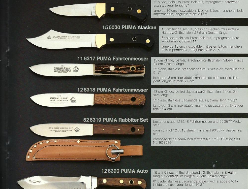 dating puma knives